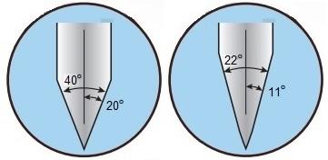 זווית השחזה שבין 11° ל- 15° המעניקה ללהב הסכין חדות יוצאת דופן - סכיני ווסטהוף דרייצק